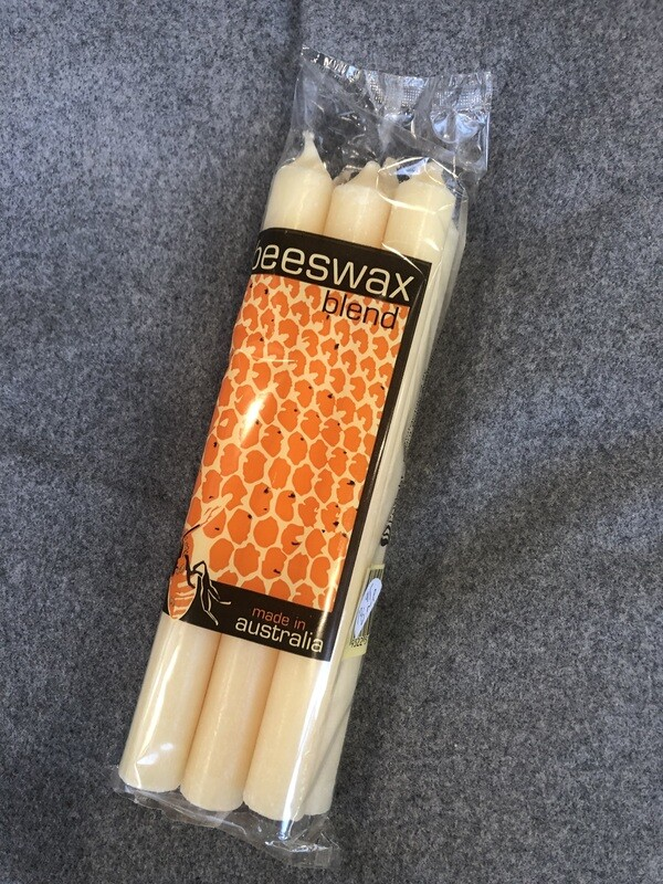 BEESWAX BlEND - Wright Power Dinner Candles x 6