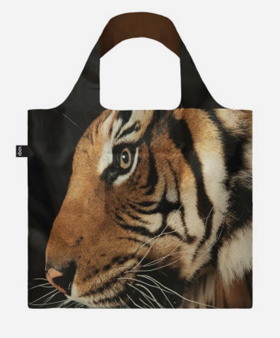LOQI - Reusable Shopping Bag, National Geographic Collection - Malayan Tiger