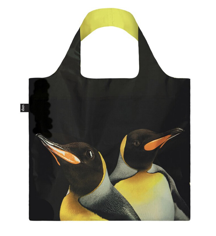 LOQI - Reusable Shopping Bag,  National Geographic Collection - King Penguins