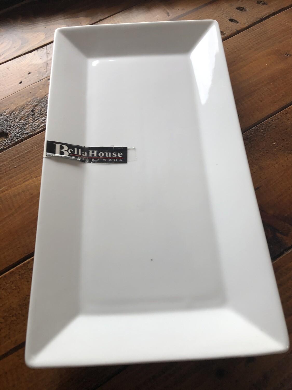 BELLA HOUSE - Ceramic Rectangular Platter 29cm x 15cm