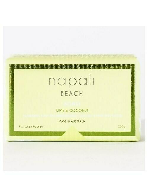 NAPALI BEACH-BONDI- Soap Bar - Lime & Coconut