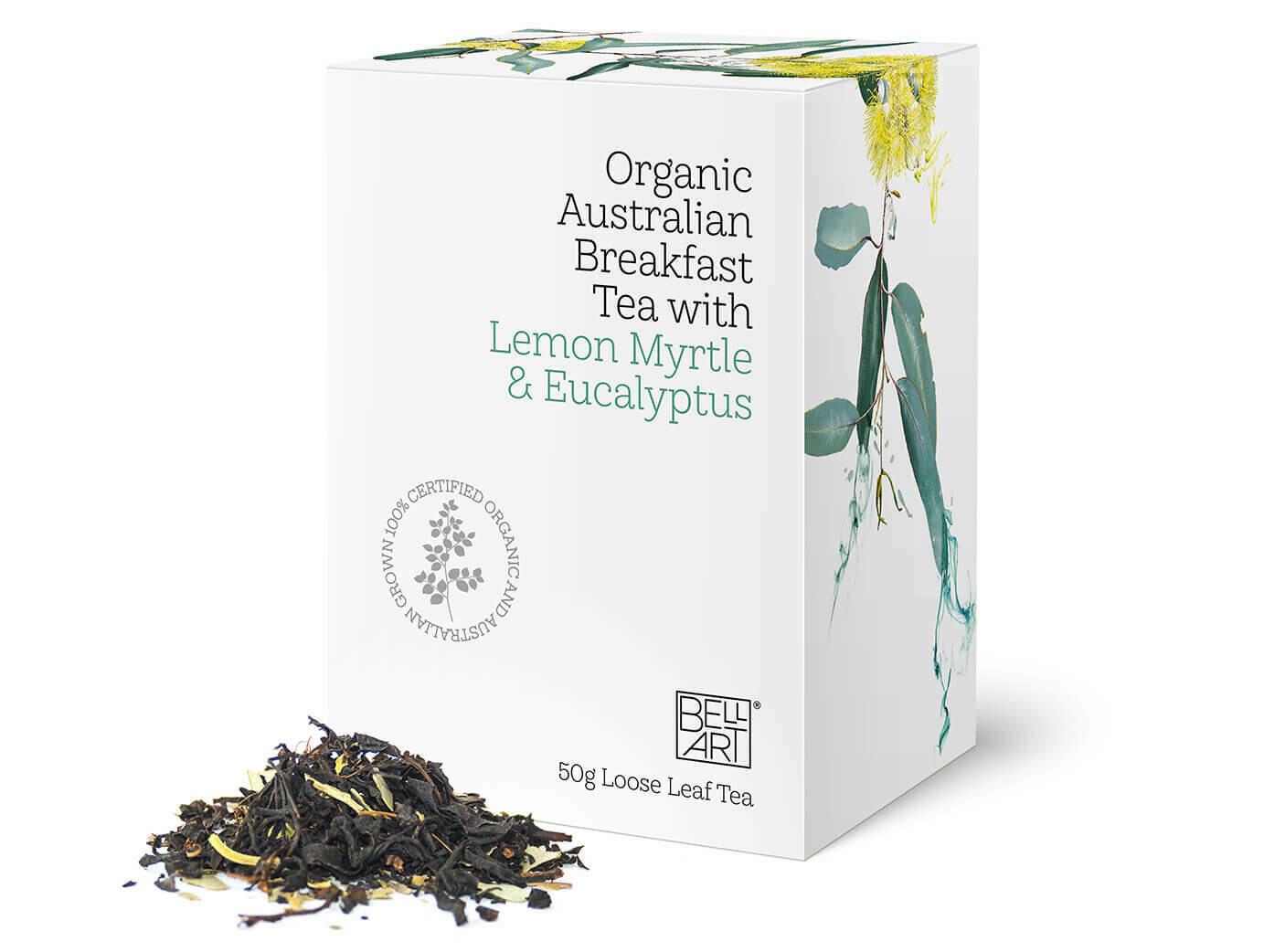 BELL ART -  Organic Australian Breakfast Tea with Eucalyptus & Lemon Myrtle