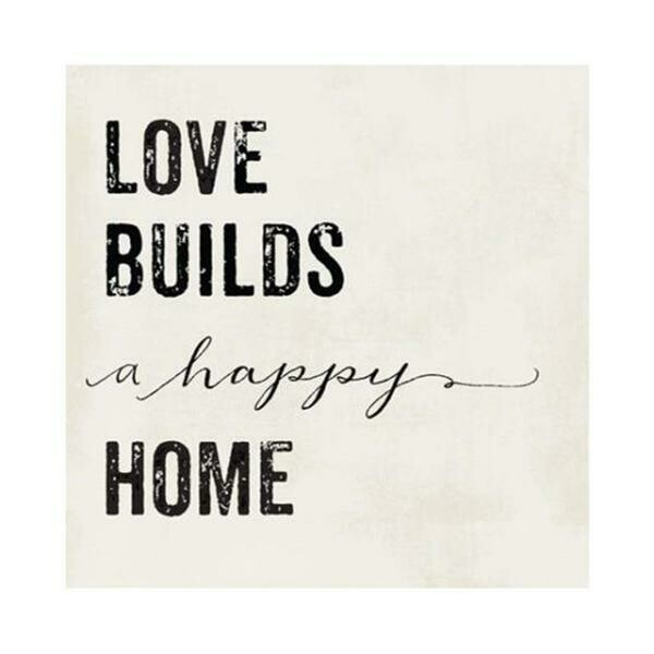 THIRSTYSTONE - Lets Stay Home Coaster Collection - 'Love builds a happy home'