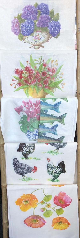 SUSIE CROOKE - LINEN Tea Towels