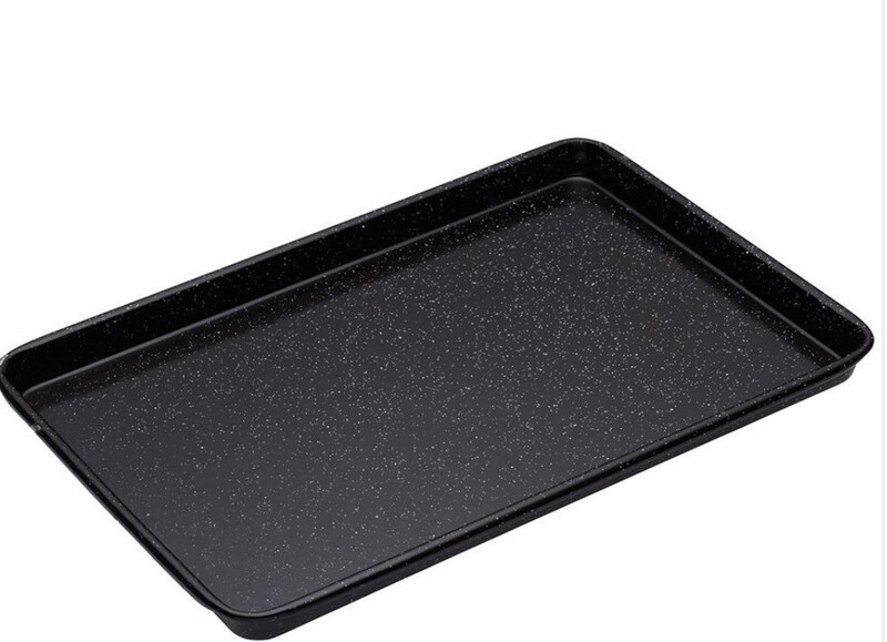 BAKEMASTER  Professional Vitreous Enamel Baking Tray - 39cm x 27cm x 2cm