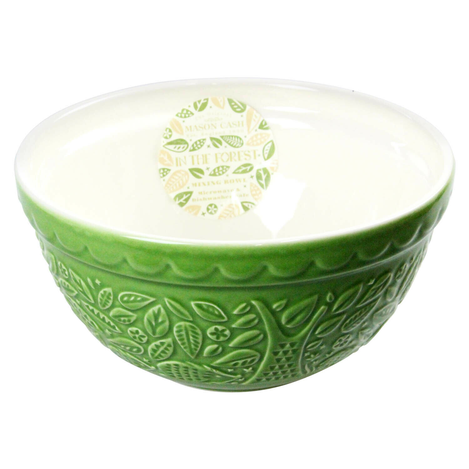 MASON CASH- In The Forest HedgehogGreen Mixing Bowl-21cm/1.1L