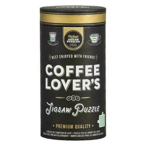 RIDLEYS-Coffee Lovers 500 Pc Jigsaw Puzzle