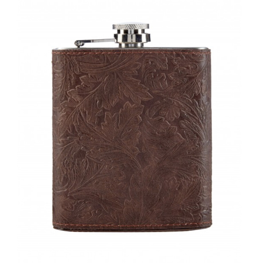 MORRIS&Co - Refined Gentleman Embossed Hip Flask-13cm(H)/10.2cm(W)/3.8cm(D)