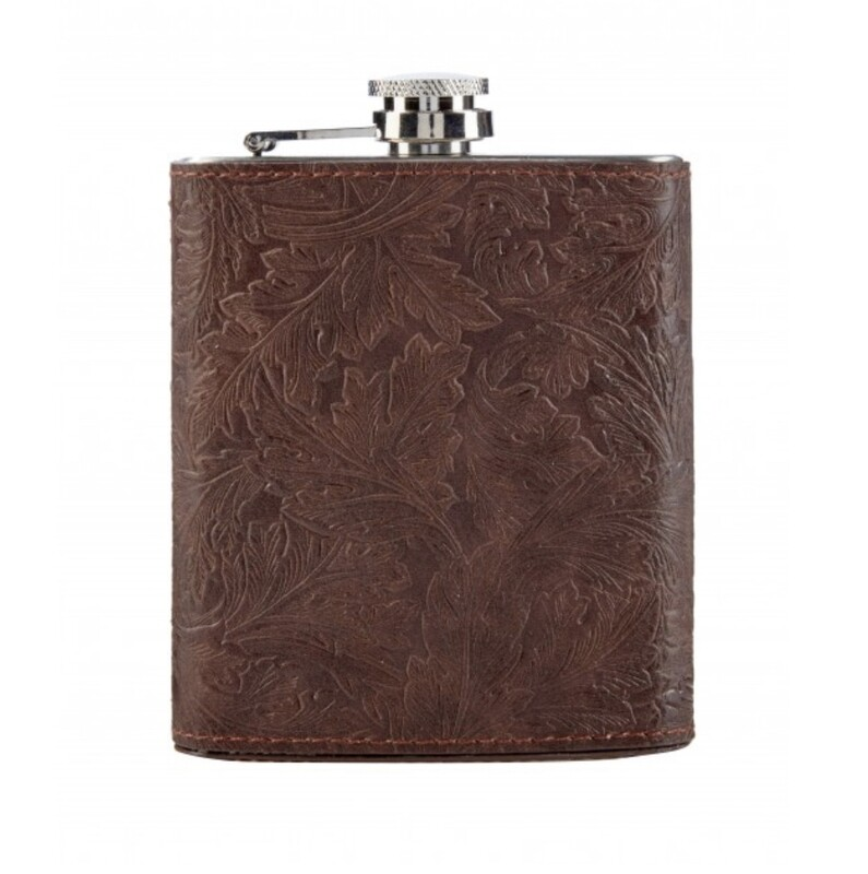 MORRIS&Co - Refined Gentleman Embossed Hip Flask-13cm(H)/10.2cm(W)/3.8cm(D)