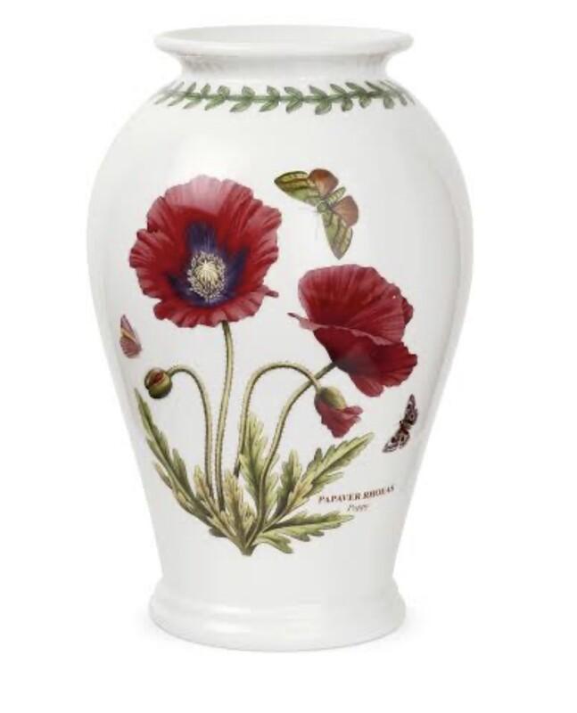 PORTMEIRION Botanic Garden Canton 25cm Vase Poppy