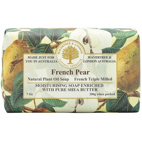 WAVERTREE & LONDON - Soap (enriched w. pure shea butter) -FRENCH PEAR 200g/7oz