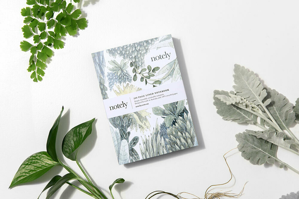 NOTELY-Botanical Journal 200 lined pages