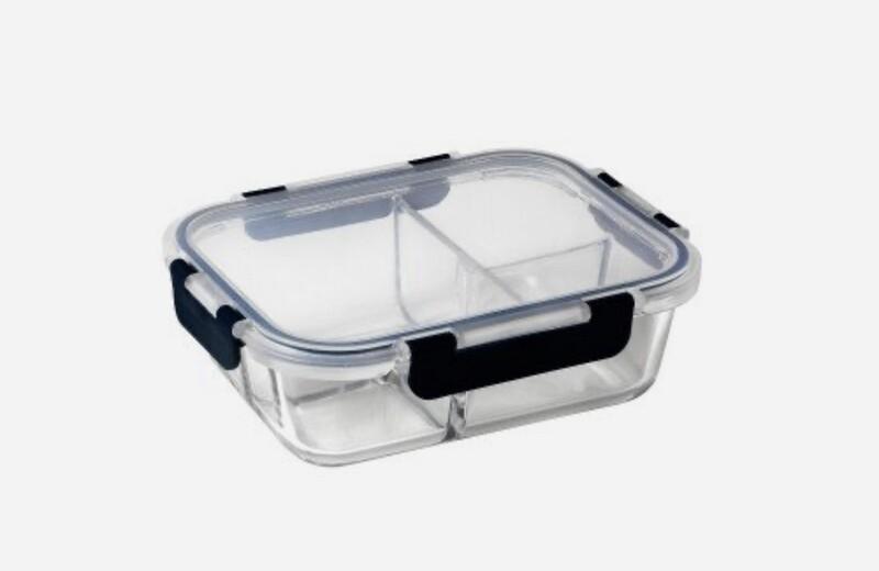 PYREX PLATINUM - Meal Prep Rectangular Trio Divided Lunch Box 950ml