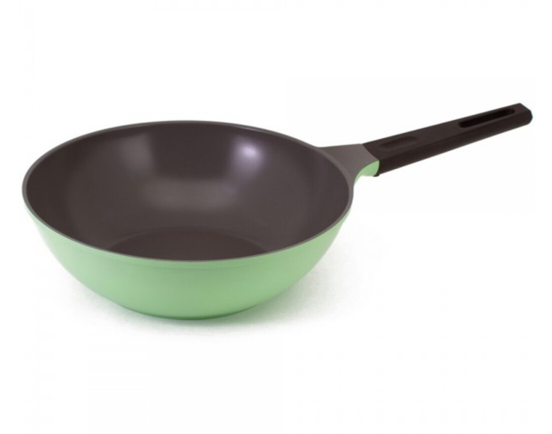 NEOFLAM - Nature+ Neoflam 30cm non stick wok - apple green