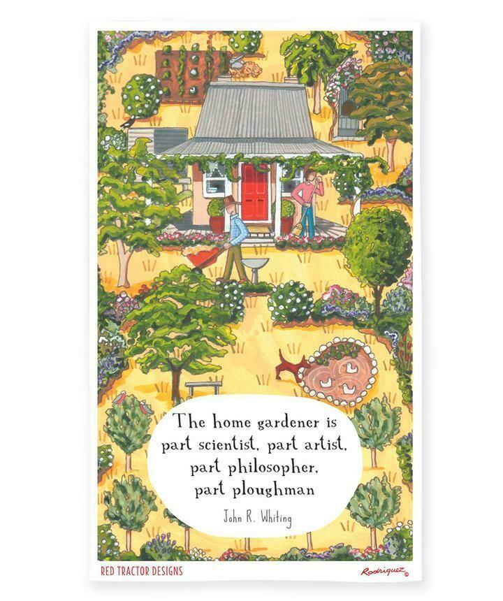 RODRIGUEZ - Tea Towel Red Tractor Designs - The Home Gardener