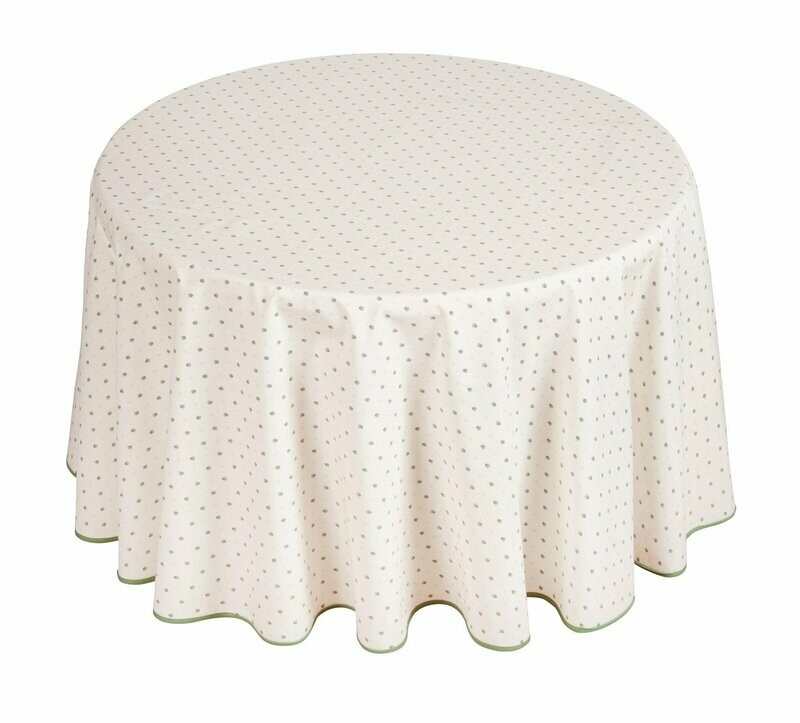 FRENCH LINEN - CALISSONS ROUND COTTON TABLECLOTH 180CM DIAMETER