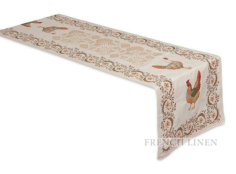 FRENCH LINEN - CHANTECLAIR JACQUARD TABLE RUNNER 50 X 170CM