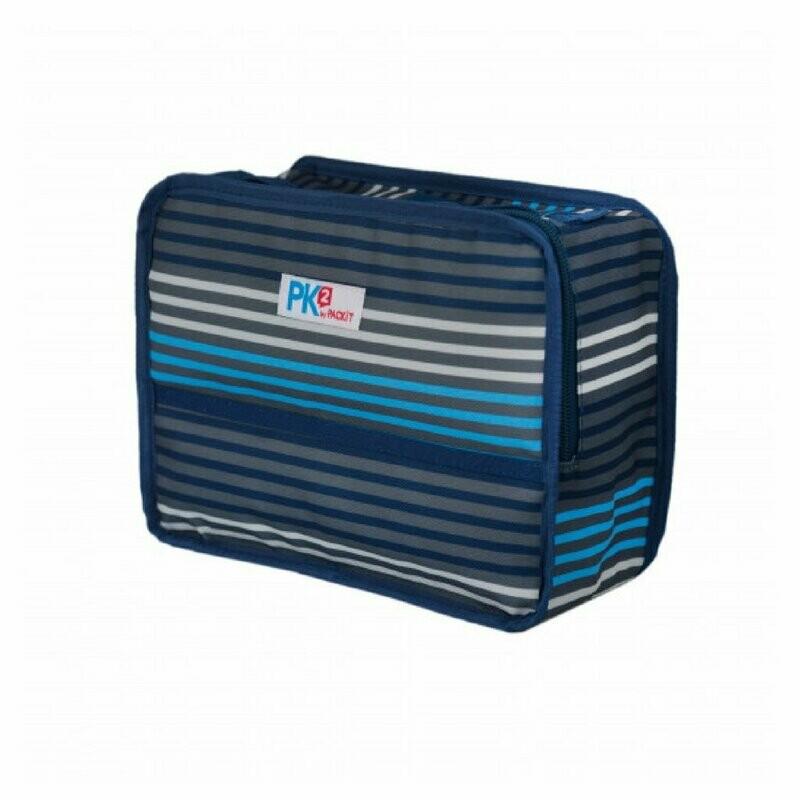 PACKIT - Freezable Basics Lunch Box - Blue/Grey