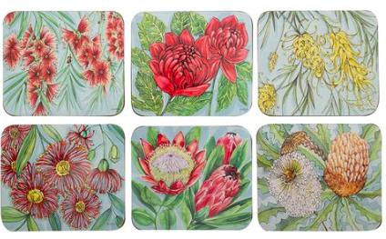 Helen Ashley Cinnamon Coaster x 6-Native Blossoms