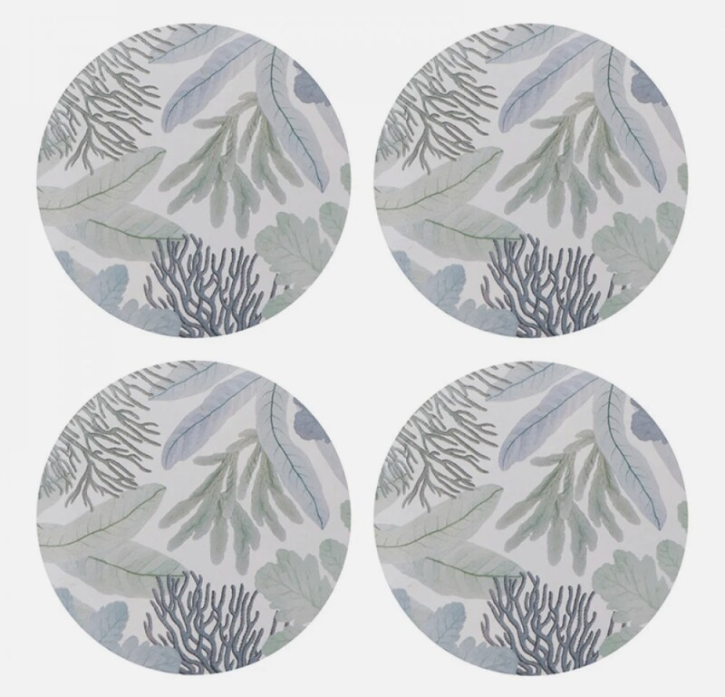 MADRAS LINK Portsea Round Coaster Set of 4