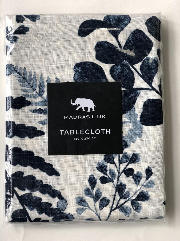 MADRAS LINK Fernery Blue Tablecloth 150x230cm