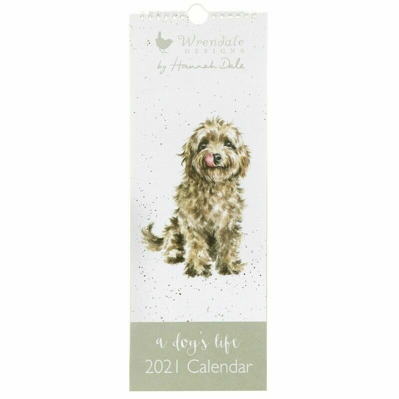 WRENDALE DESIGNS- A Dog's Life  Slim 2021 Calendar