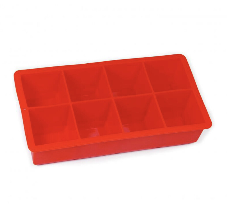 AVANTI - Silicone 8 Cup Ice Cube Tray Red