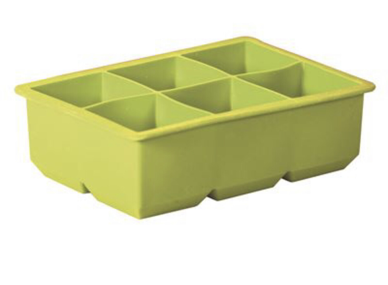 AVANTI - Silicone 6 Cup Ice Cube Tray Green