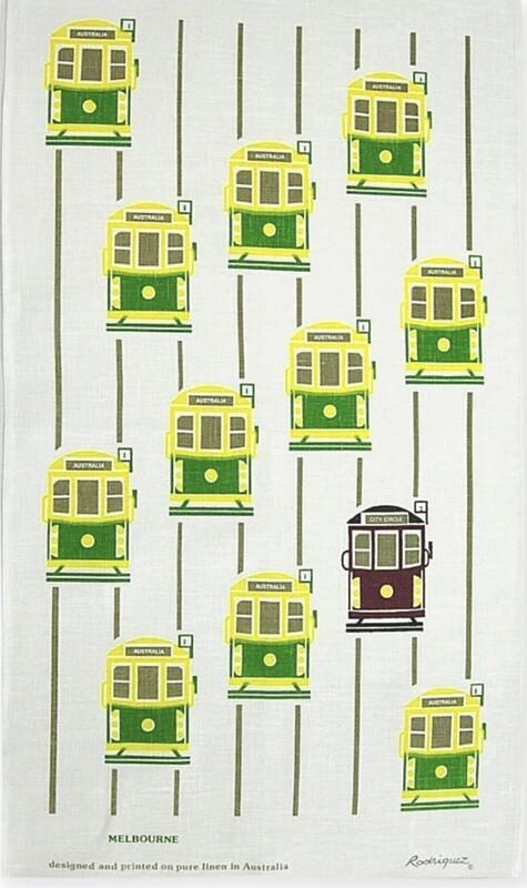 RODRIGUEZ Tea Towel - Melbourne Tram