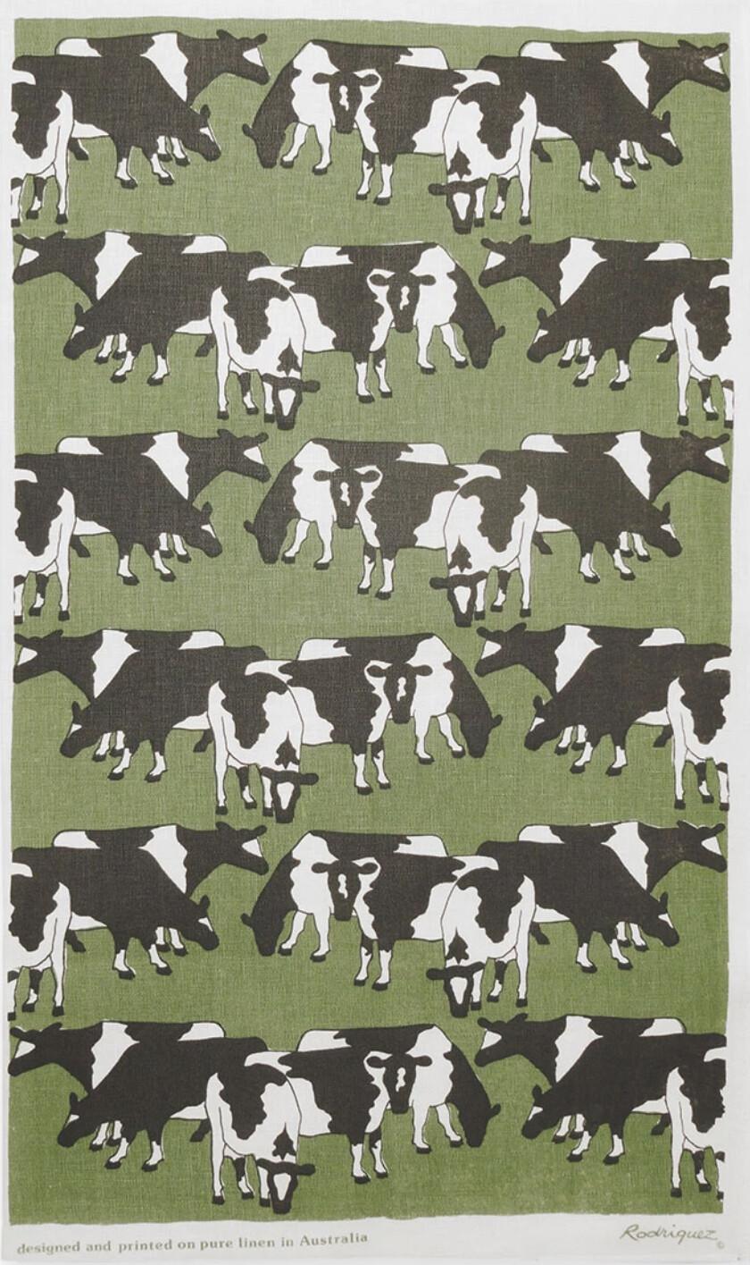 RODRIGUEZ Tea Towel - Cows Grazing
