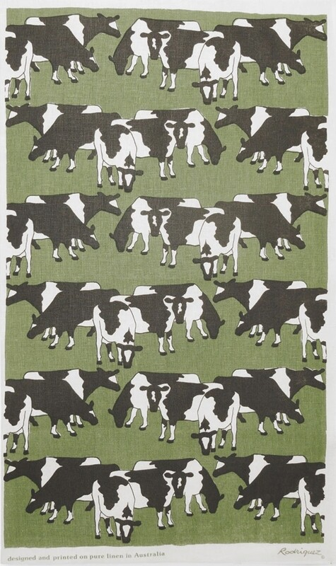 RODRIGUEZ Tea Towel - Cows Grazing