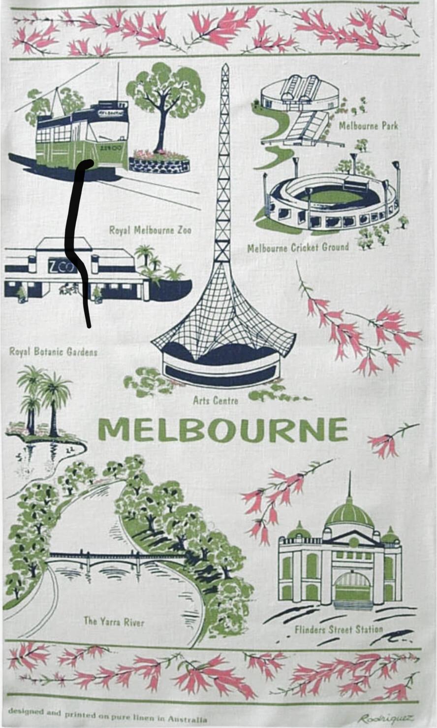 RODRIGUEZ Tea Towel - Melbourne Landmarks