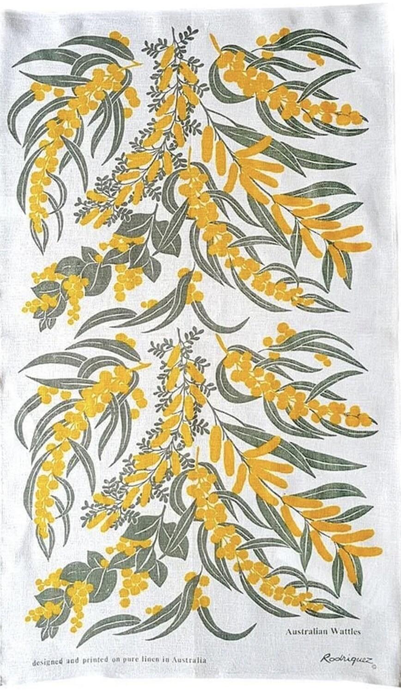 RODRIGUEZ - Tea Towel - Australian Wattles