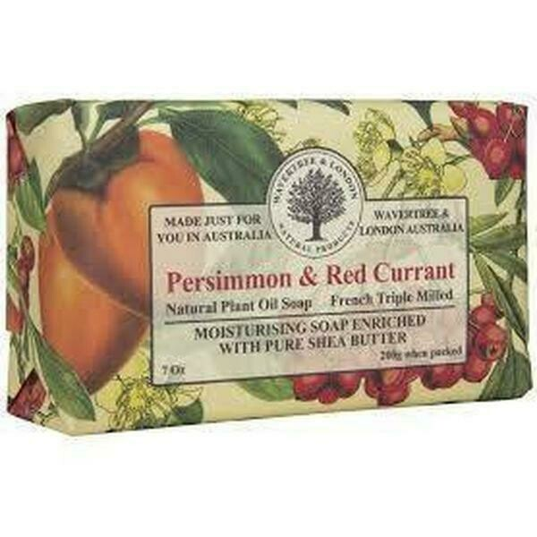 WAVERTREE&LONDON - Persimmon & Red Currant Soap Bar 200g/7oz