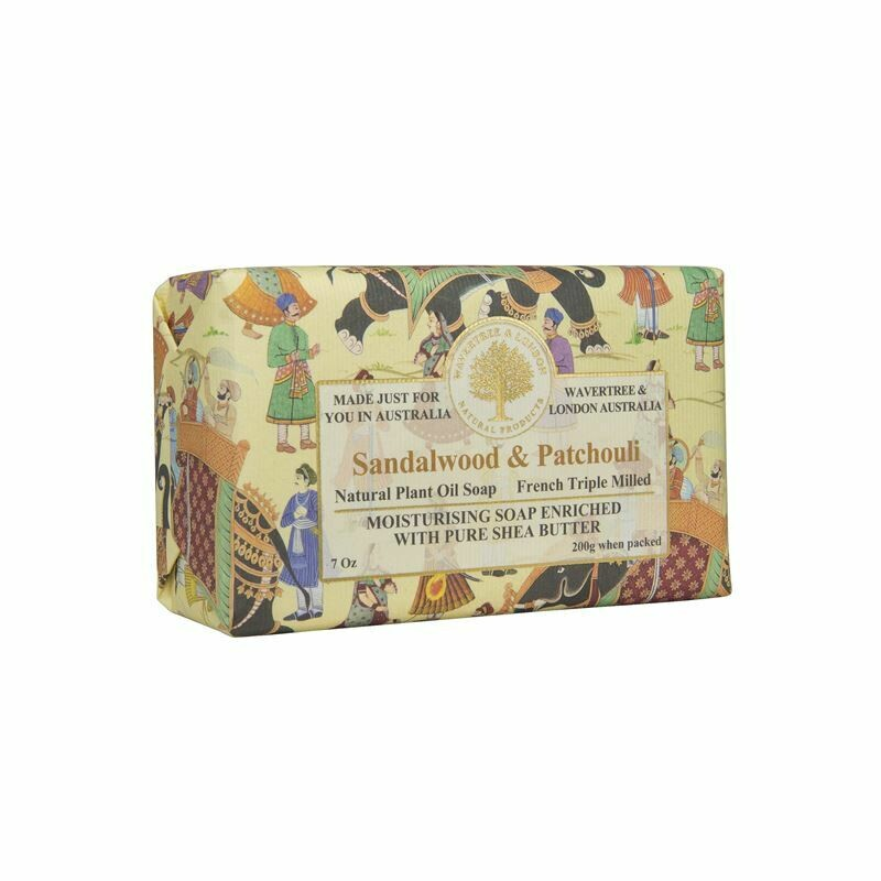 WAVERTREE&LONDON - Sandalwood and Patchouli Soap Bar 200g/7oz