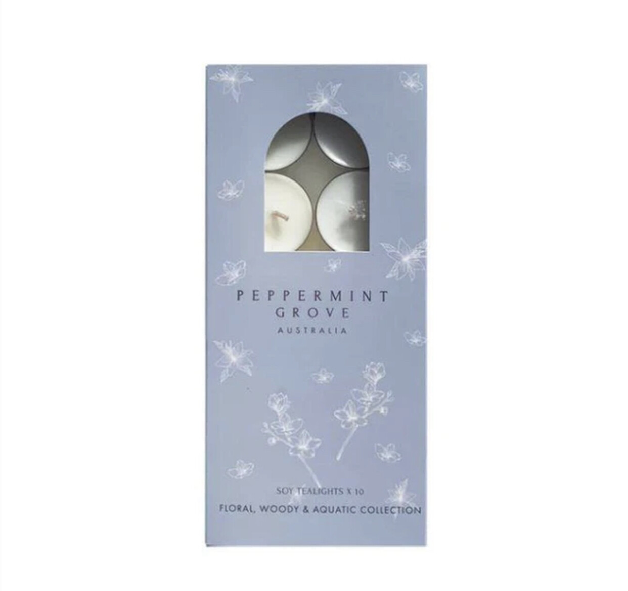 PEPPERMINT GROVE - Floral, Woody & Aquatic Collection - Soy Tealights