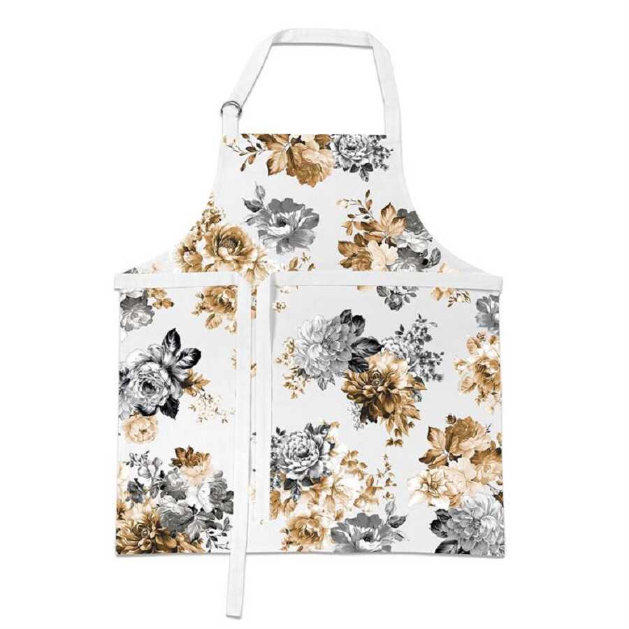 MICHEL DESIGN WORKS-GARDENIA Cotton Chef's Floral Apron