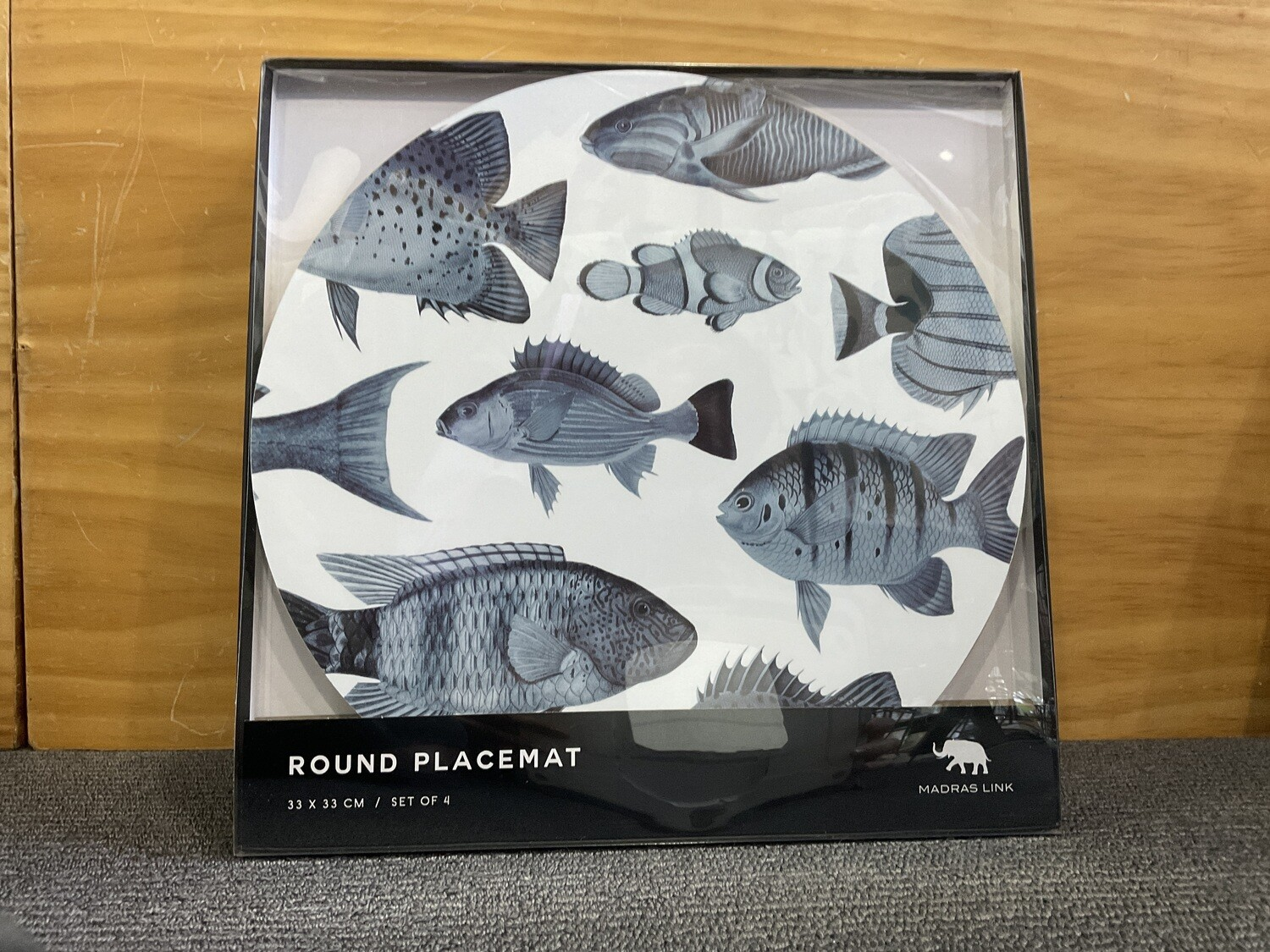 MADRAS LINK - Shoal Blue Round Placemat Set of 4
