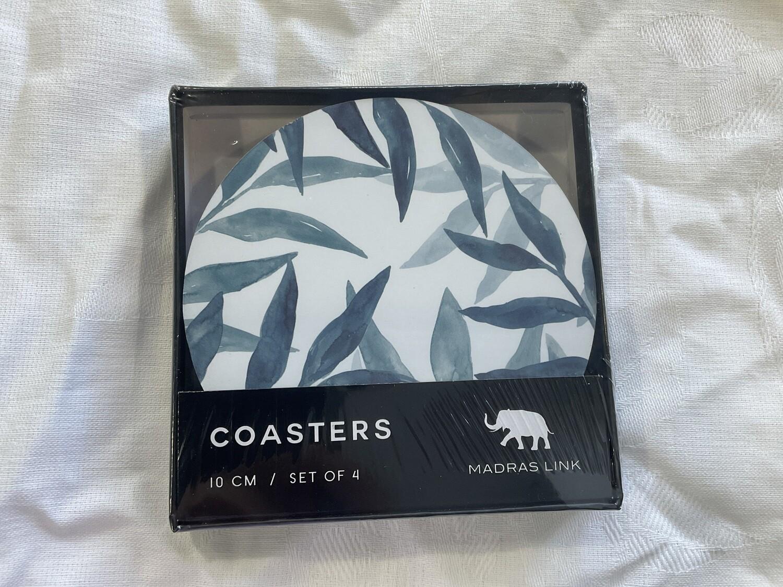 MADRAS LINK - Sorrento Blue Round Coasters Set of 4