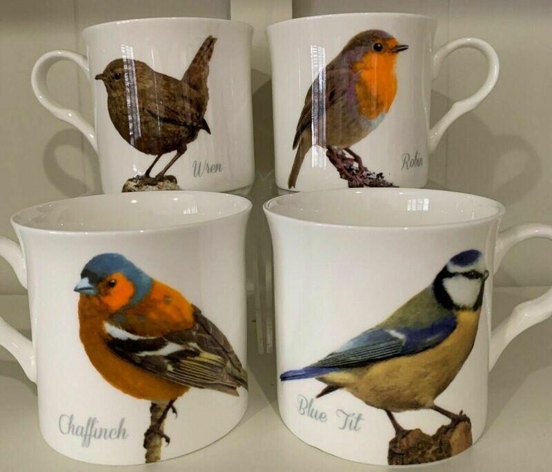 HERITAGE -  Fine Bone China Mugs - Birds Portraits
