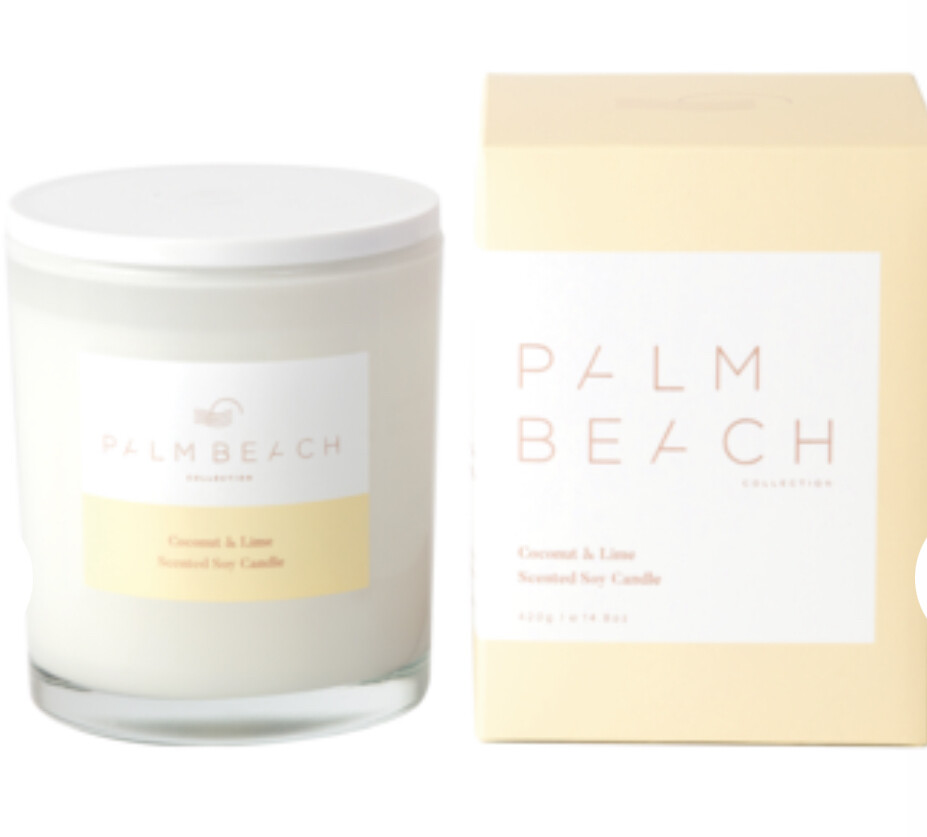 PALM BEACH - Coconut & Lime  420g Standard Candle