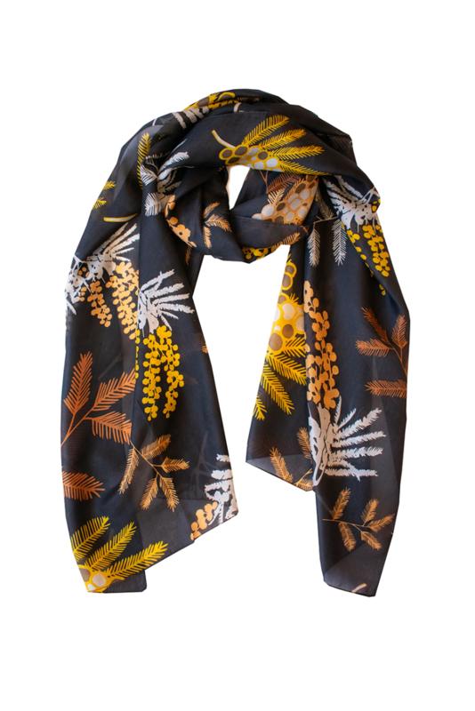INDUS DESIGN - Wattle Silk Scarf  50x170cm