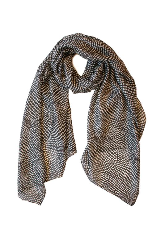 INDUS DESIGN - Spot Silk Scarf 50x170cm
