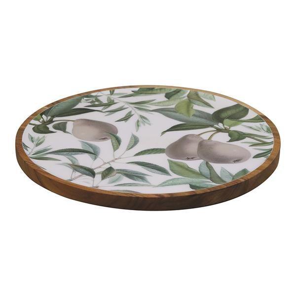 MADRAS LINK - Pear Shallow Serving Platter