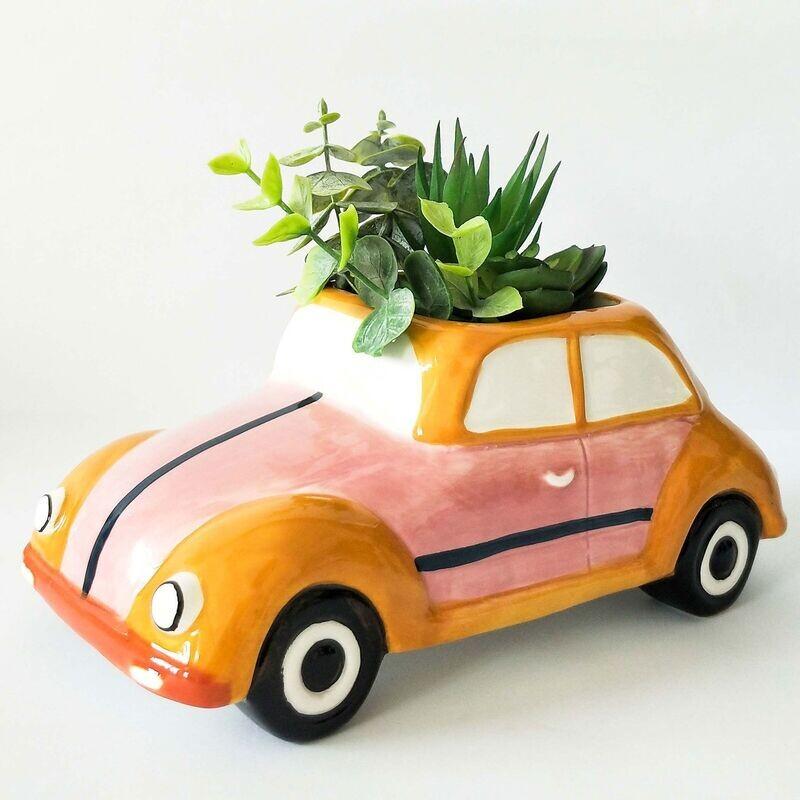 Urban Products - Retro Bug Planter Pink