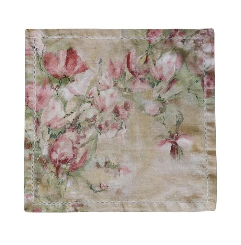 CC Interiors- Magnolia Limone 100% Linen Napkin