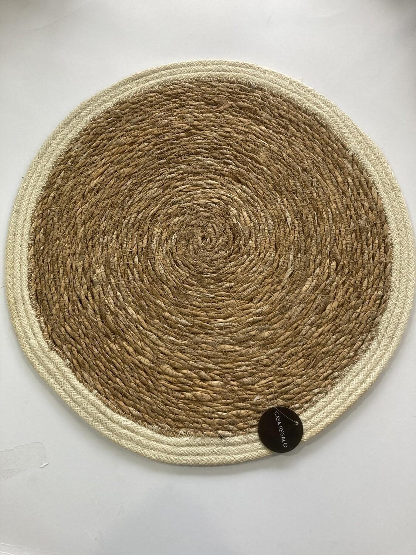 Coast To Coast-Round compressed cane placemats-40cm