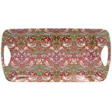 WILLIAM MORRIS -Small Luxury Tray Strawberry Thief 38cm(L) 20CM(W)