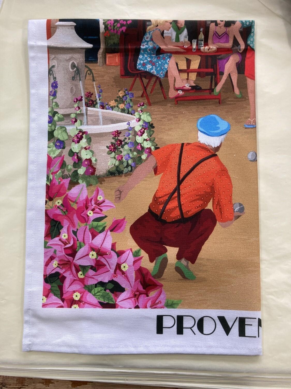LE PANIER - Provence (bocce) Tea Towel