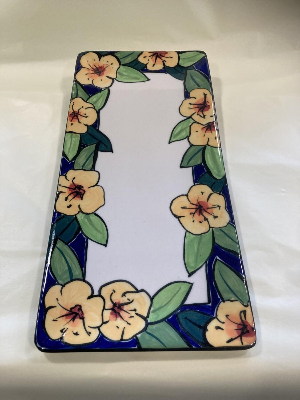 MARY LOU PITTARD - Large Rectangular Platter 42.5cm(L)/20cm(W)